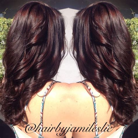 medium golden mahogany brown lowlights gorgeous rich mahogany golden brown with long layers hair