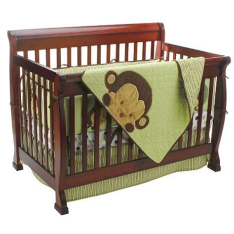 Mod Pod Pop Monkey 4 Piece Crib Bedding Set New Monkey Crib Bedding