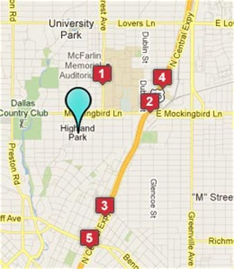 map of highland park texas hotels motels near highland park texas see all discounts