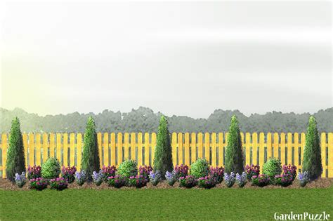 How To Design Backyard gardenpuzzle project fence line