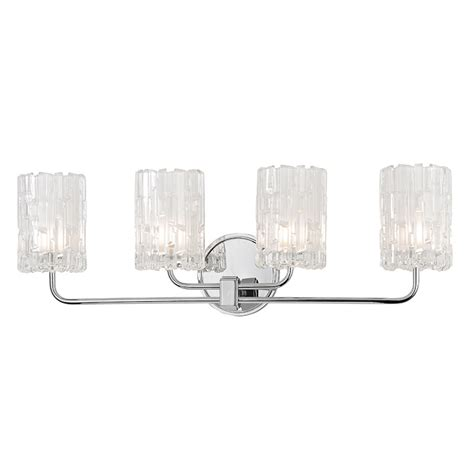 chrome bathroom vanity light fixtures hudson valley 1334 pc dexter polished chrome xenon 4 light
