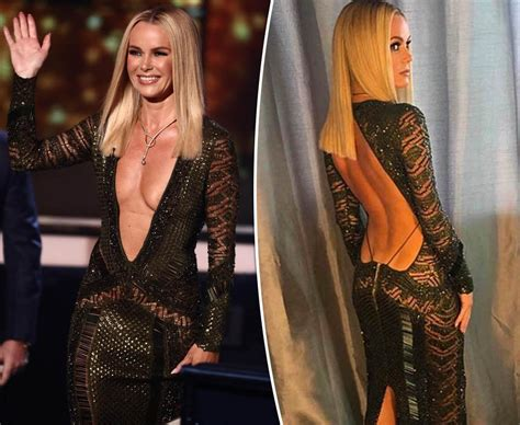 picture of amanda holden amanda holden instagram ageless flashes cleavage