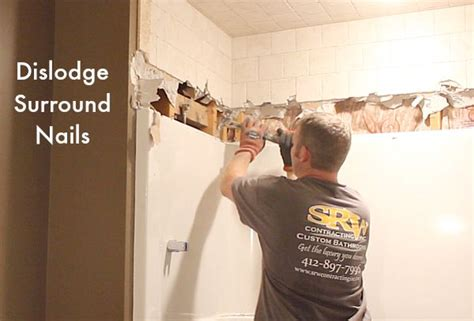 Remove Nail From Bathtub by How To Remove A Fiberglass Bathtub And Surround In 60