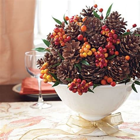 pine cone centerpieces 34 cozy pinecone centerpieces for fall and thanksgiving