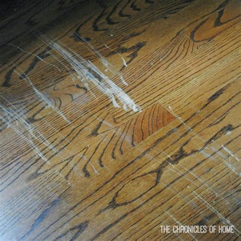 Wood Floor Scratch Repair Fix Scratched Hardwood Floors In About Five Minutes The Chronicles Of Home