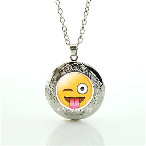 picture pendants jewelry fashion style yellow picture necklace happy