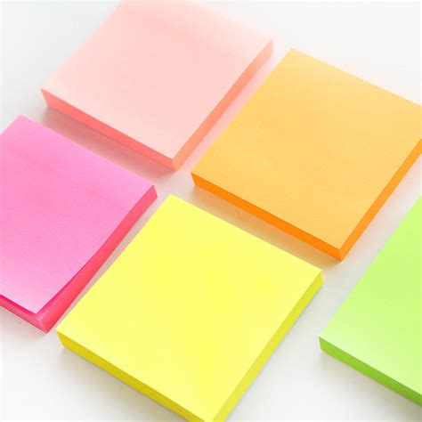 Stick Note Memo Cookys 100 sheets macaron color sticky note portable adhesive paper post it memo pad stationery office