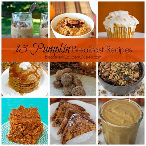13 pumpkin breakfast recipes