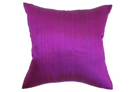 Magenta Pillow by Vince 18x18 Pillow Magenta Decorative From One