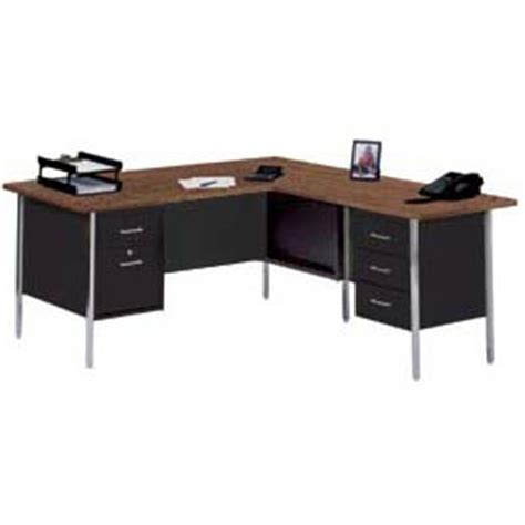 Steel Desk L by Desks Steel 72 Quot X 66 Quot L Desk With Right Return Black