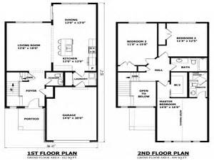 Floor Plans Two Story Homes by Simple Two Story House Modern Two Story House Plans