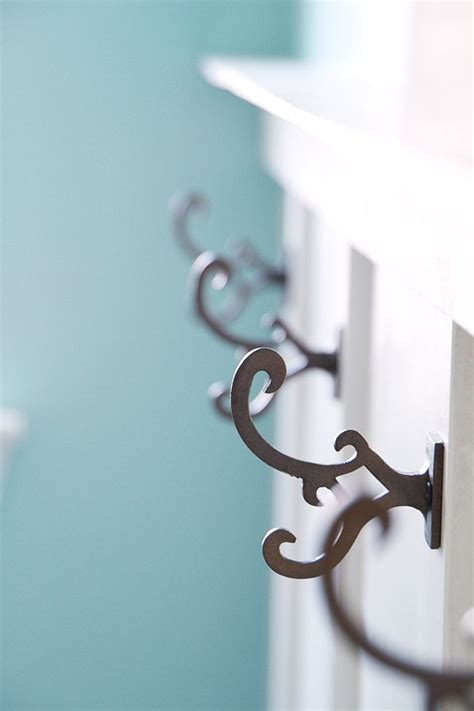 wall hooks in the laundry room cottage