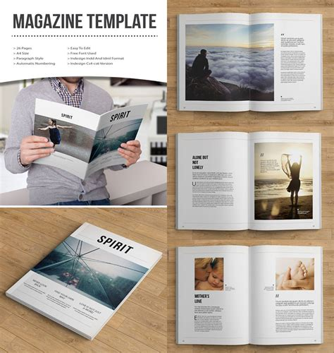 design online book 20 magazine templates with creative print layout designs