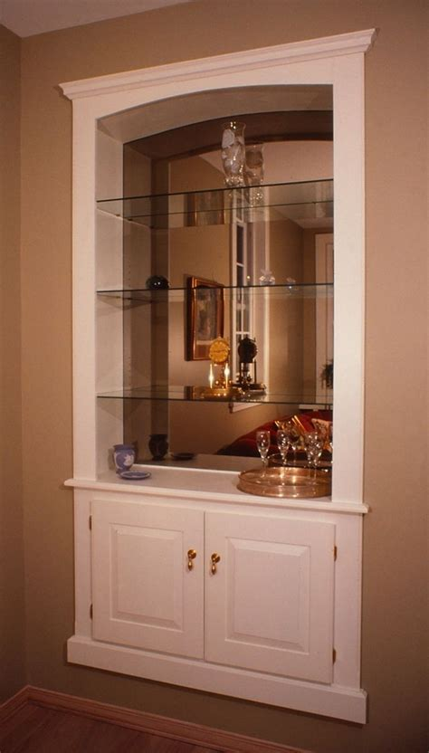 schrank in wand crafted built in wall cabinet by fred miller custom