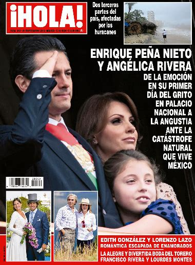 imagenes revista hola angelica rivera ang 233 lica rivera y enrique pe 241 a nieto en revista hola tv
