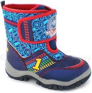 Boys thomas and friends winter snow boots size 5 size 7 size 9 rail