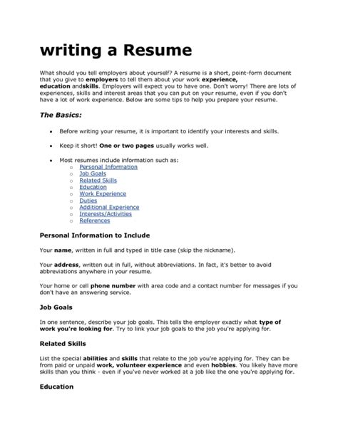 what should not be included on a resume resume ideas