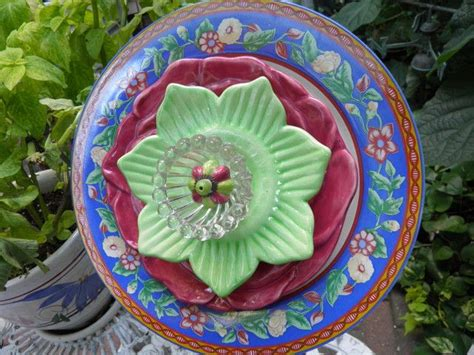 Plate Flower Garden Junk Art Pinterest Plate Flowers For The Garden