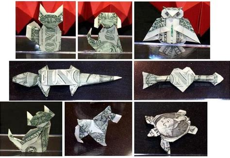 Dollar Origami Owl - checkout this origami resource center 2018