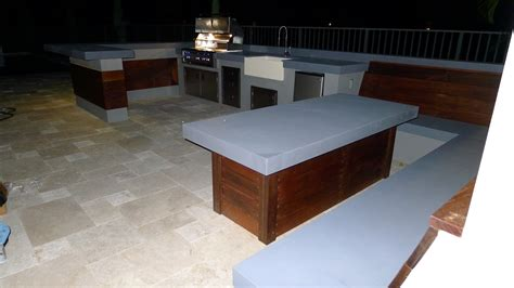 ultra modern outdoor kitchen table bench outdoor