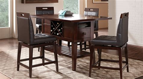 julian place chocolate counter height popular oak computer desk endearing dining table design by