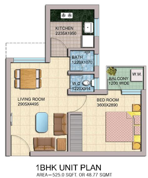 1bhk floor plan yeida bhs 05 1bhk flat floor plan master plans india