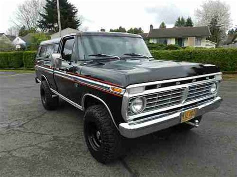1975 ford f100 ranger purchase used 1975 ford ranger f100 4x4 highboy no reserve