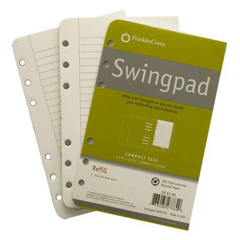 swing pad swing pad refills franklincovey