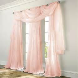 Patio Door Blackout Curtains Elegance Voile Pink Sheer Curtain Bedbathhome Com