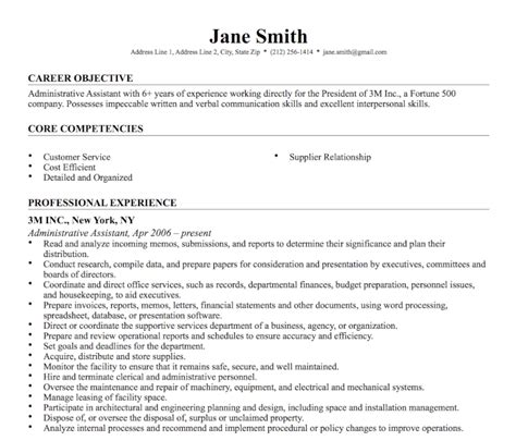 Resume Objective Universal 35 Free Microsoft Word Resume Templates That Ll Land You The