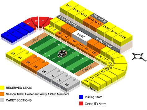 michie stadium seating chart cotton bowl stadium seating chart 2012