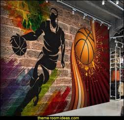 Basketball Wall Mural decorating theme bedrooms maries manor basketball