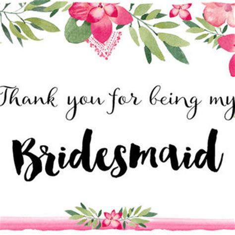 bridesmaid thank you card template best will you be my bridesmaid cards products on wanelo