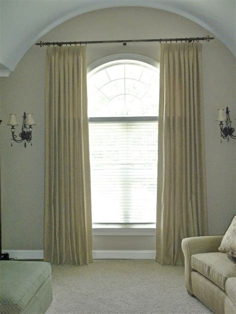 Drapery Ideas For Arched Windows Arched Top Windows Traditional Window Treatments