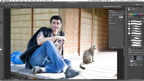 tutorial photoshop cs6 how to blend two pictures together how to merge photos realistically in photoshop cs6