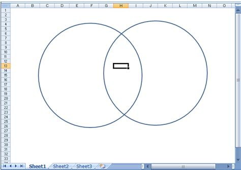 copy and paste venn diagram using excel 2007 to make a venn diagram