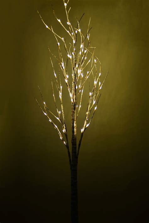 6ft white led tree led birch tree 6ft