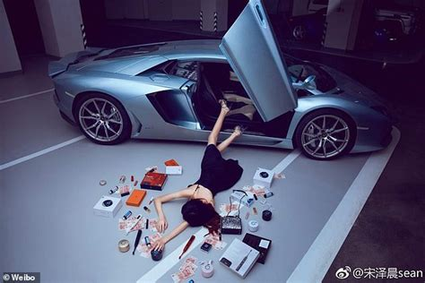 flaunt your wealth challenge hits china with falling out of cars with luxury goods