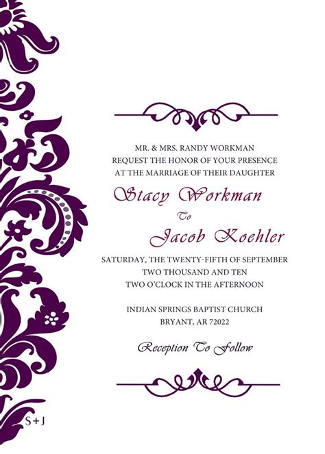 templates for invitations uk the 25 best ideas about blank wedding invitations on