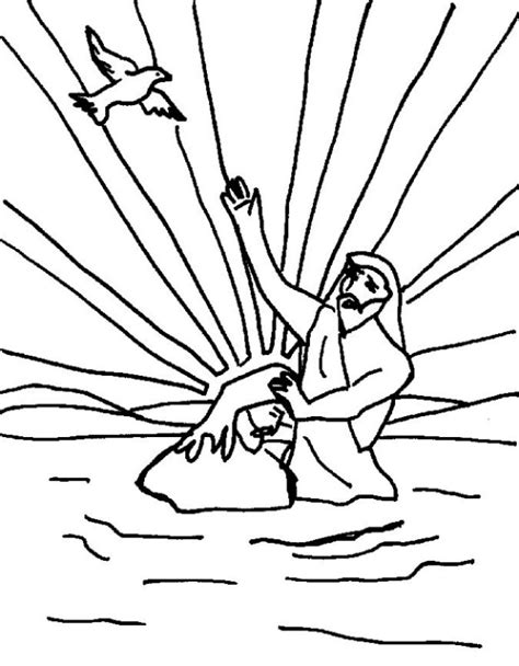 jesus baptized coloring page 171 free coloring pages