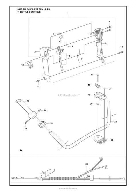 husqvarna  fr   parts diagram  throttle controls