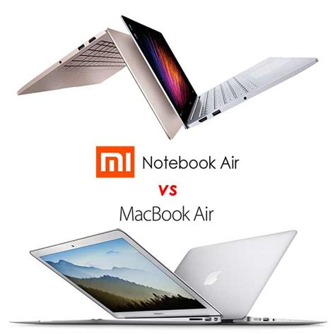 Macbook Air Pro Terbaru xiaomi mi notebook air vs apple macbook air 2015 beda