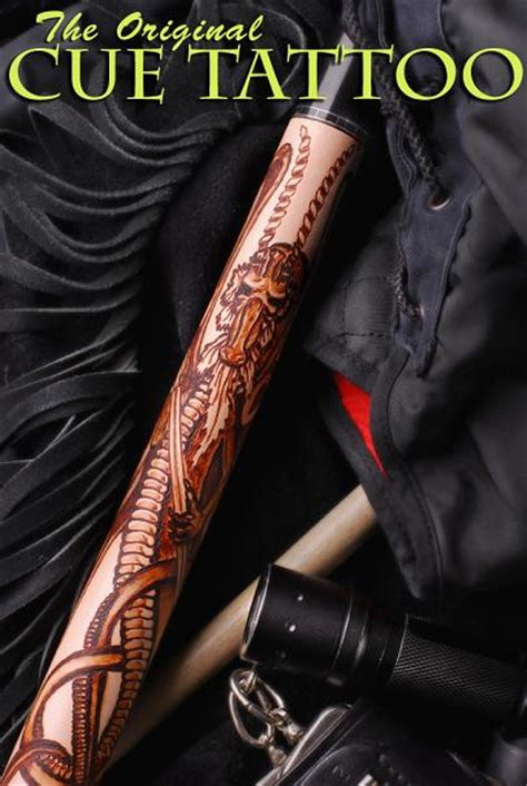 celtic winged dragon cue tattoo leather wrap in stock