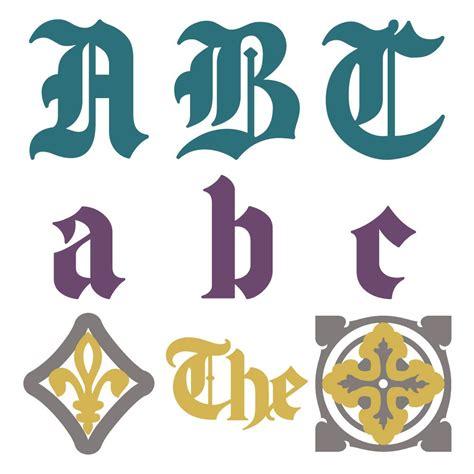 blackletter create monogram cricut fonts cricut