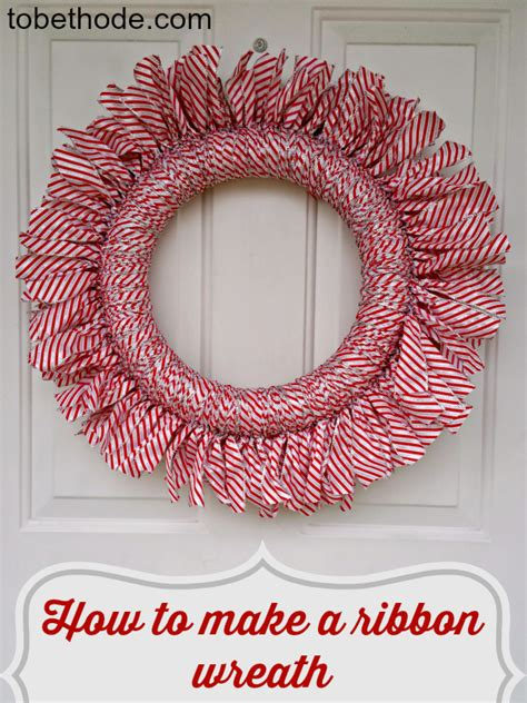how to make wreaths easy ribbon wreath for any holiday tobethode