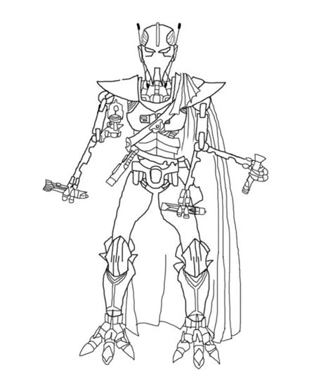 General Grievous Coloring Page Coloring Home General Grievous Coloring Page
