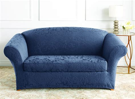 Stretch Jacquard Damask Loveseat Slipcover Damask Sofa Slipcover