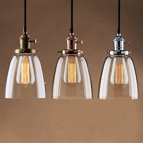 Vintage industrial ceiling lamp cafe glass pendant light