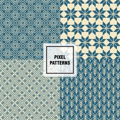 pixel pattern ai pixel pattern with stars vector free download