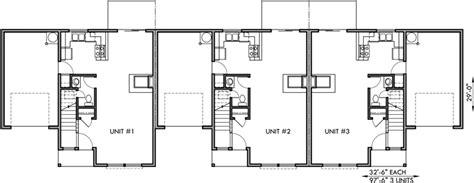 Triplex House Plans Triplex House Plan Triplex Plan W Garage Townhouse Plan T 396